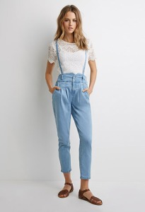 High Wasted Suspender Jeans